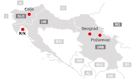 Bimex-zemljevid